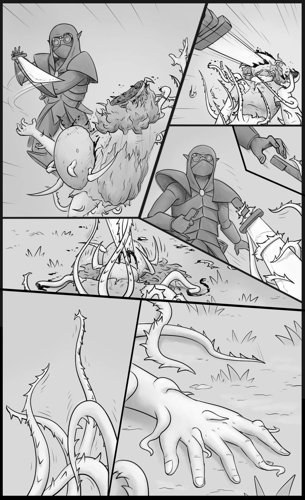 Page 32 - The creature attacks (Part 3)